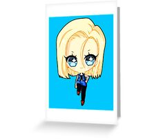 Android 18 Greeting Card