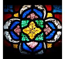 Stained Glass Flourishes Photographic Print