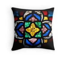 Stained Glass Flourishes Throw Pillow