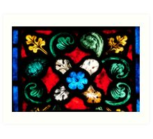 Stained Glass Flourishes 2 Art Print