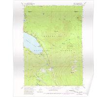 USGS Topo Map Oregon Odell Lake 280964 1967 24000 Poster