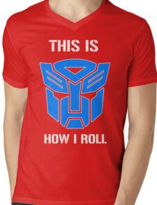 Autobot - This is how I roll Mens V-Neck T-Shirt