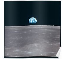 Apollo Archive Earth Rise over Moon Poster