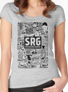 Sim Racers Garage Collage - Black w/ White Products Women's Fitted Scoop T-Shirt