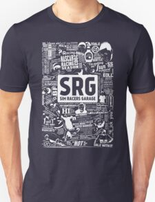 Sim Racers Garage Collage - White w/Black Products Unisex T-Shirt