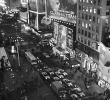 Times Square Phantom BW by Polly Greathouse