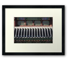 Korean Palace Roof Framed Print