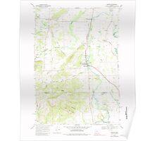 USGS Topo Map Oregon Monroe 280781 1969 24000 Poster