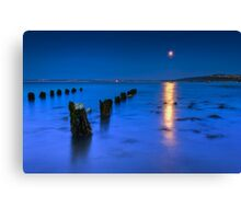 Moon over St Ives Canvas Print