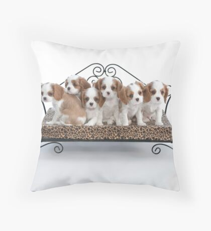 Briana's Pups Throw Pillow