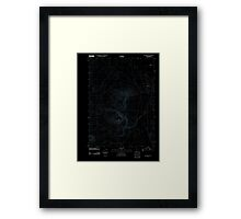 USGS Topo Map Oregon Red Mountain 20110818 TM Inverted Framed Print