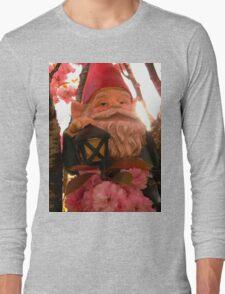 Sunset Sakura Gnome Long Sleeve T-Shirt