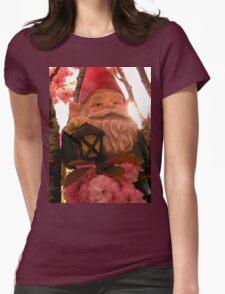 Sunset Sakura Gnome Womens Fitted T-Shirt