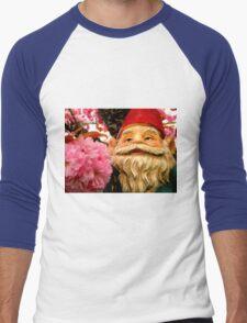 Peeking Petals Men's Baseball ¾ T-Shirt