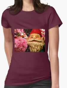 Peeking Petals Womens Fitted T-Shirt