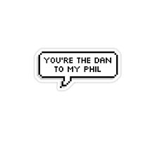 Dan and Phil Text Bubble Print by pikatea