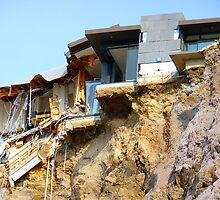 Living On The Edge - Earthquake Damage Sumner NZ by AndreaEL