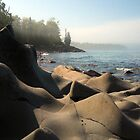 Copper Harbor Beach by Polly Greathouse