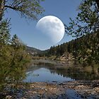 """ Moon Over Tranquility Lake "" by CanyonWind"