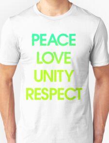 Peace Love Unity Respect (PLUR) Unisex T-Shirt