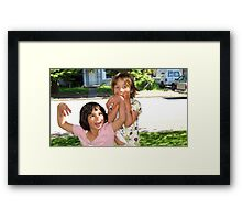 Silly Girls Framed Print