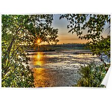 Sunset at Stony Brook Poster