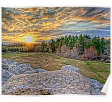 Sunset at West Hill Dam Poster