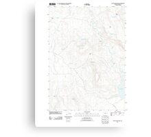 USGS Topo Map Oregon Upton Mountain 20110831 TM Canvas Print