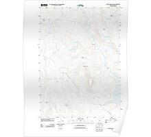 USGS Topo Map Oregon Upton Mountain 20110831 TM Poster
