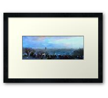 Montmartre from the Butte Framed Print
