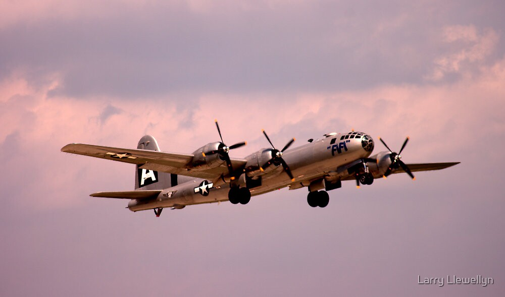 The Last One..................CAF's B29.... by Larry Llewellyn