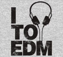 I Listen to EDM (black) Kids Clothes
