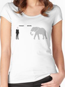 Silence vs. Elephant Women's Fitted Scoop T-Shirt