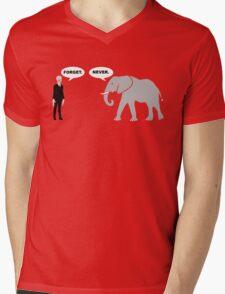 Silence vs. Elephant Mens V-Neck T-Shirt