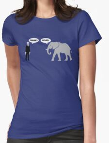 Silence vs. Elephant Womens Fitted T-Shirt