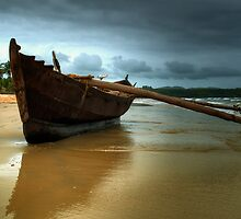 Goan Fishing boat at Mobor by Deepak Varghese