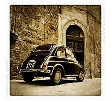 Fiat 500 in Lucca. Italy Photographic Print