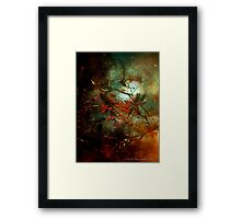 Coral Tree in Space Framed Print
