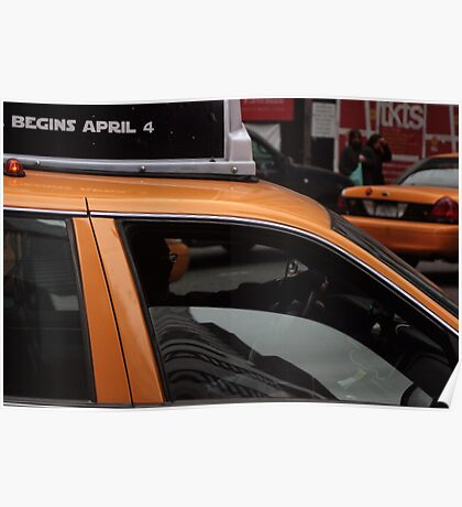 Taxi, New York City Poster