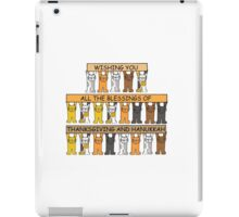 Happy Thanksgiving and Hanukkah. iPad Case/Skin