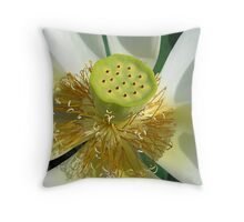Lotus Details Throw Pillow