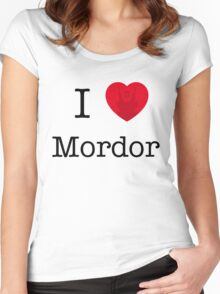 I LOVE MORDOR Women's Fitted Scoop T-Shirt