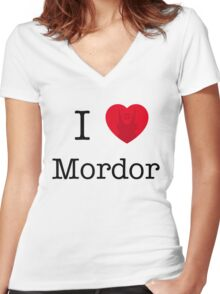 I LOVE MORDOR Women's Fitted V-Neck T-Shirt