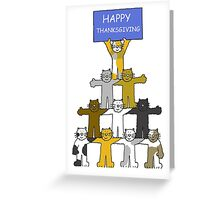 Happy Thanksgiving Cats. Greeting Card