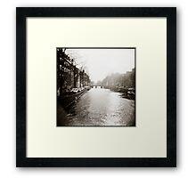 { sun down } Framed Print