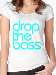 Drop The Bass (cyan) Women's Fitted Scoop T-Shirt