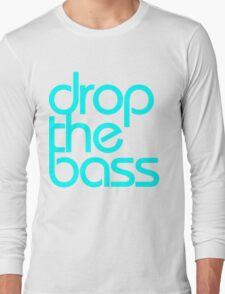 Drop The Bass (cyan) Long Sleeve T-Shirt