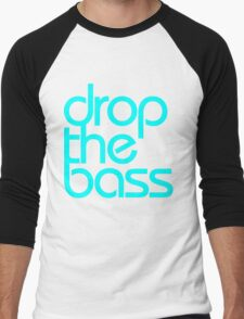Drop The Bass (cyan) Men's Baseball ¾ T-Shirt
