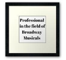 Broadway Musicals Framed Print