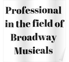 Broadway Musicals Poster